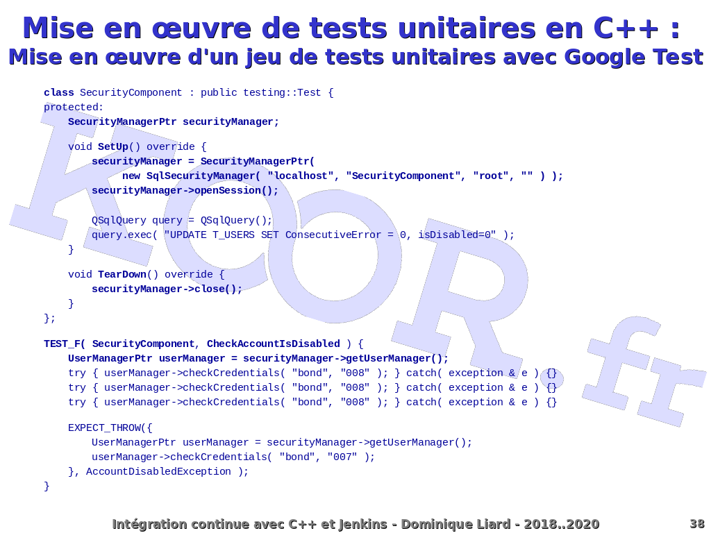 Intégration continue avec C++ et Jenkins - Mise en <script